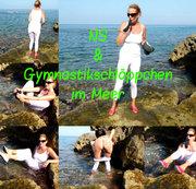 Public: NS & Gymnastikschläppchen im Meer