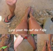 Lyn pisst Mo auf die Füße