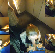 Quick blowjob in the elevator