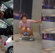 Pee desperation in the parking