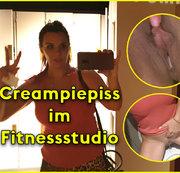 Creampiepiss im Fitnessstudio