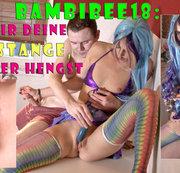 Teeny BambiBee18: Gib mir deine Fickstange, du geiler Hengst!