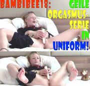 BambiBee18: Geile Orgasmus-Serie in Uniform!