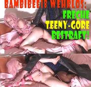 BambiBee18 wehrlos! Freche Teeny-Göre bestraft!