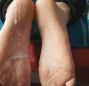 Twink footjob shoes socks feet cum