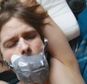 Tied, gagged teen guy milked and used