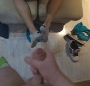 POV young skate footjob