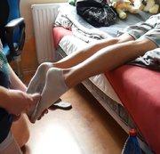 SERTIEL: Sweaty socked feet footjob Download
