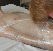 SERTIEL: Foil wrapped young guy milked in hotel room Download