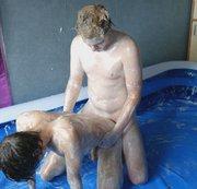 SERTIEL: Foam wrestling and anal bareback sex in the pool Download