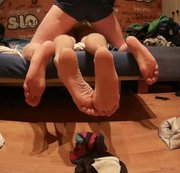SERTIEL: Feet view of two young guys humping each other Download