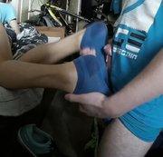 SERTIEL: Hot sweaty ankle socks footjob Download