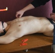 SERTIEL: Smooth lad BDSM session with candle wax Download