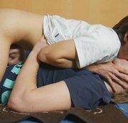 SERTIEL: Boyfriends deep french kiss and wank each other Download