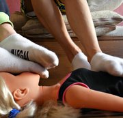 SERTIEL: Dirty socks, bare feet and spit on a doll Download