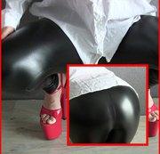 Userwunsch - Wetlook Legging & praller Arsch