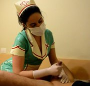 Masked surgical gloves  Handjob(custom video)