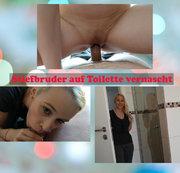 Stiefbruder auf Toilette vernascht