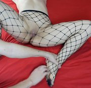 Tickling MILF's Feet, Legs In Black Fishnets