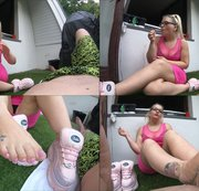 French Nail Smoking Footjob!