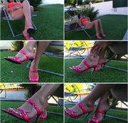 baumelnden rosa Maultiere
