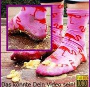 Kundenwunsch - Flamingo Socken Matsch