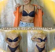 Strippen bis zur Unterwäsche