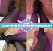 Lange Beine in schwarzer Strumpfhose