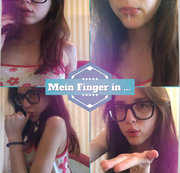 Mein Finger in ...