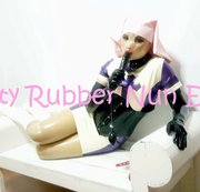 Dirty Rubber Nun !!! Drooling Gagging and Cumming