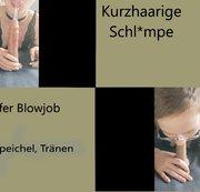 Kurzhaarige nimmt 17cm Dildo in ihr geiles F*ckmaul auf