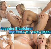 Das doppelte Blondchen! Dreierfick mit zwei Blondinen!