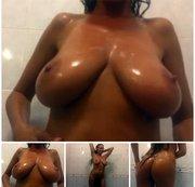 Naked showering:Christina Ventura