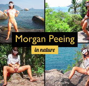 Morgan Peeing in Nature