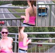 Tittenblitzer auf der Autobahnbrücke!!!