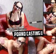 PORNO CASTING - Michelle (22 Jahre) XXL-Schwanz HÄRTETEST