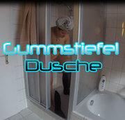 Heißer Gummistiefel waschtag
