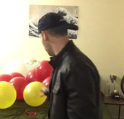 Jock destroys all your balloons with his cigarette