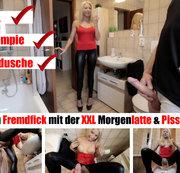 XXL Morgenlatte weggefickt mit Pissfinale!