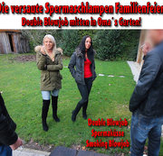 Die versaute Spermaschlampen Familienfeier | Double Blowjob + Spermaküsse!