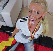Megakrasse XXL WM Spermaladung | Hyper Sperma-Inferno für das Schland-Luder!