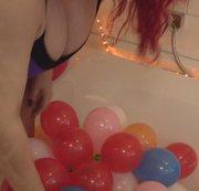 Vorbereitung zum Dreh..viele kleine Ballons.