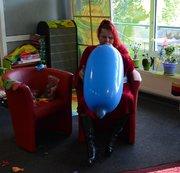 Blauer Riesenballon aufgeblasen Phase 1 NONPOP !