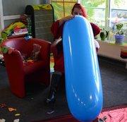 Blauer Riesenballon aufgeblasen Phase 2 NONPOP !