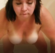 Sexy BBW Rides her Dildo in the Shower and Deepthroats