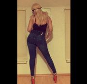 Sexy hüfthohe Jeans