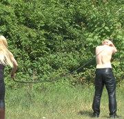 Bullenpeitschen-Bestrafung.