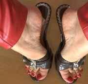 Dangling mit Mule High Heels