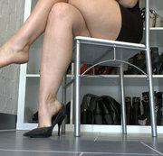 Leder High Heels Dangling