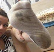 sehr schmutzige Sock...!